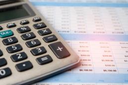Calculator with spreadsheet